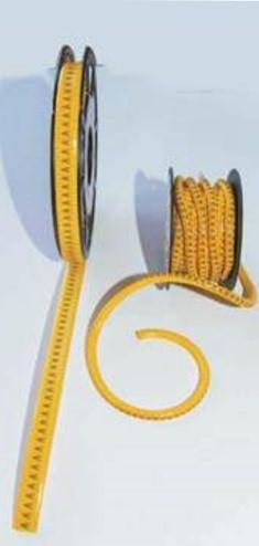 Abraçadeiras para identificação de cabos em plástico