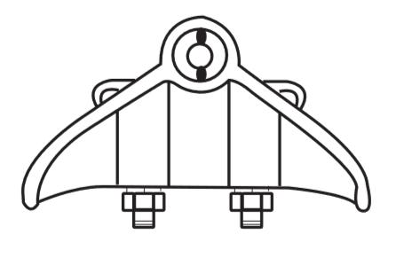 Pinça de suspensão - Linha aérea